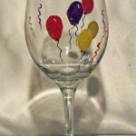balloons painted wine glass