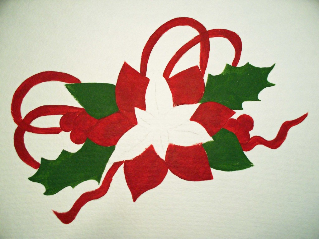 How to Paint a Poinsettia