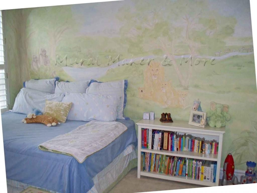 Lion-family-mural
