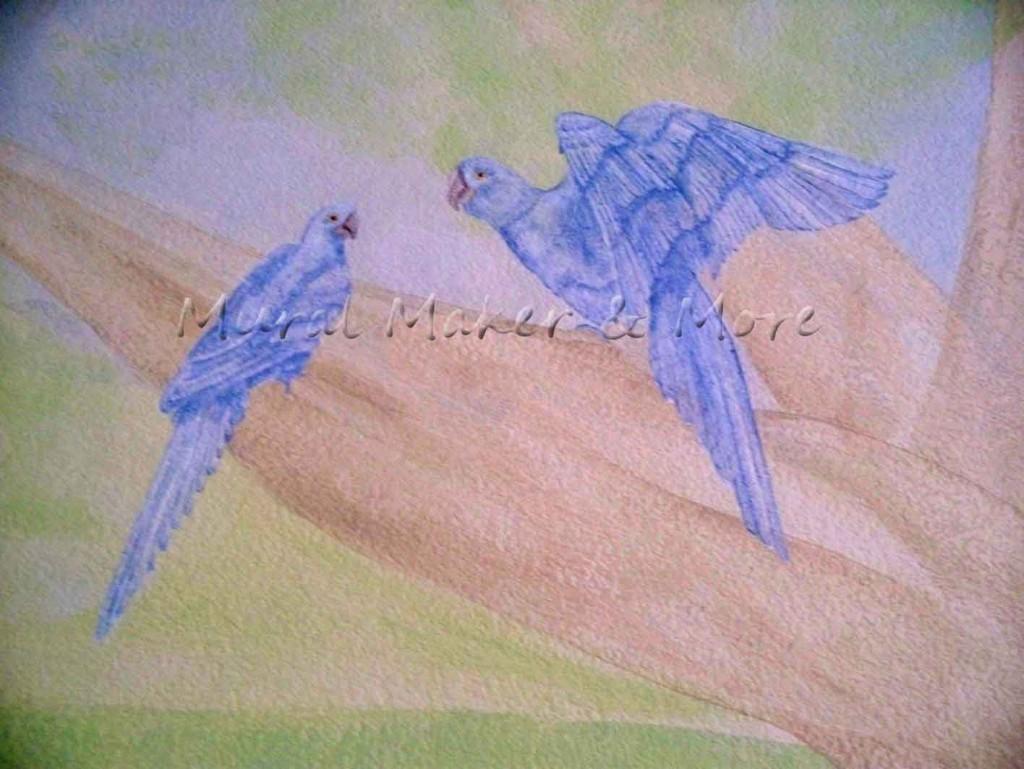 blue-hyacinth-parrot-mural
