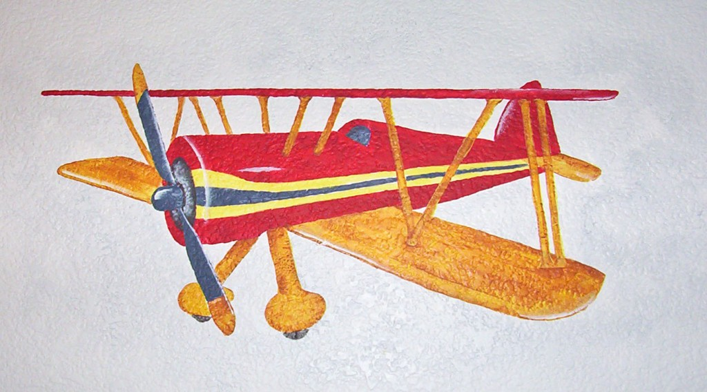 Antique Toy Airplane Mural