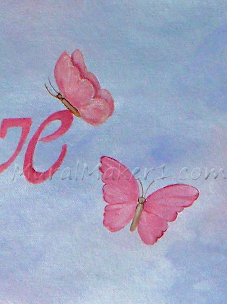 Butterflies in Castle Mural