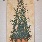Painted Ivy Topiary Mural
