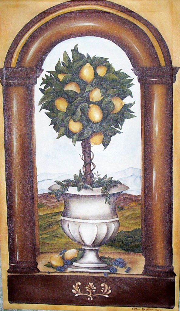 Lemon Topiary Wall Hanging