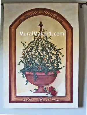 Painted Topiary Wall Hanging