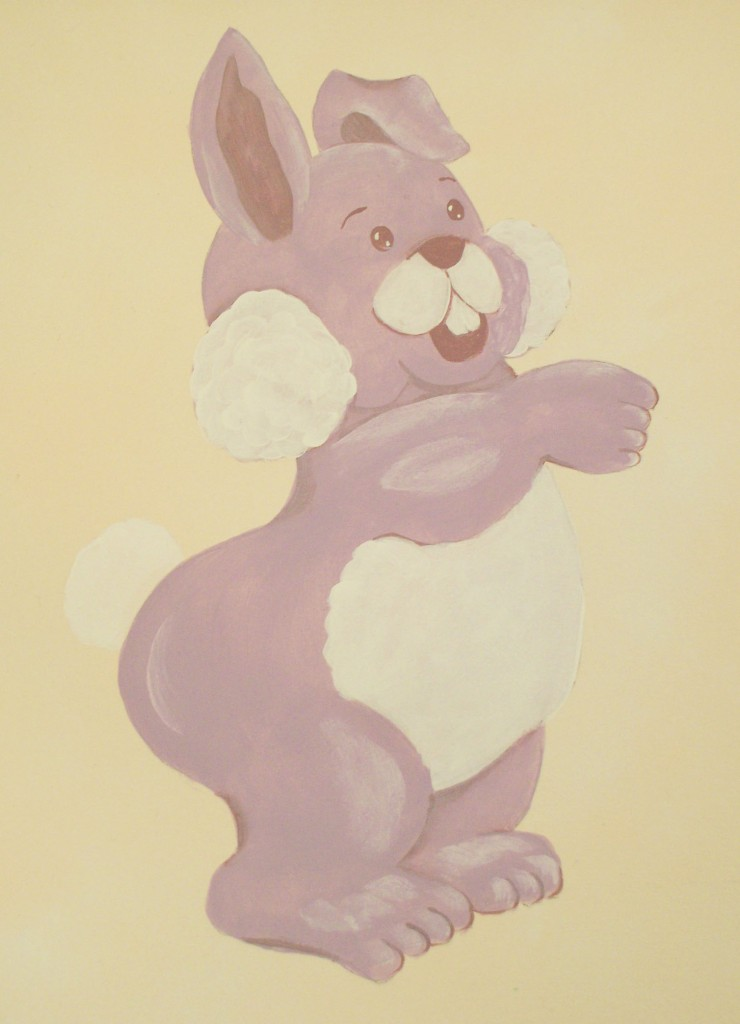 Paint a Purple Bunny