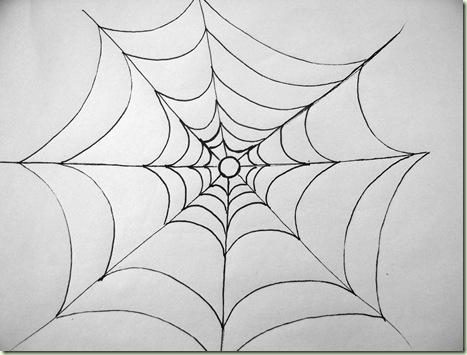 Super simple spiderweb just paint it blog for Easy drawing websites