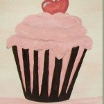 How to Paint a Simple Cupcake