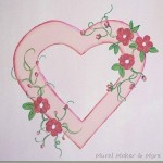 heart and posies painting