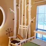 birch tree nursery mural