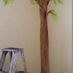 how to paint a simple tree mural