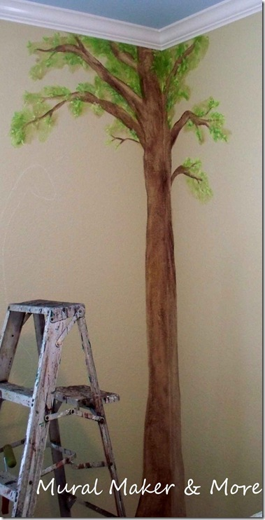 how to paint a simple tree mural just paint it blog. Black Bedroom Furniture Sets. Home Design Ideas