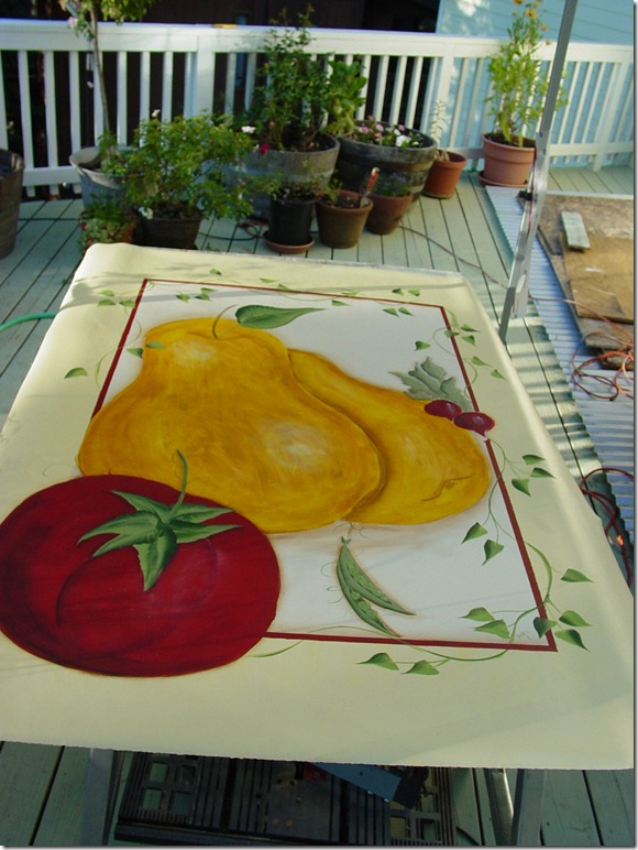 Paint a floorcloth on linoleum just paint it blog for Can linoleum be painted