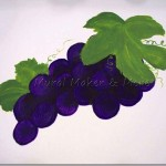How to Paint Grapes & Grape Leaves