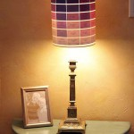 ombre paintchip lamp