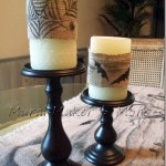 Halloween Burlap Candle Wraps