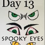 Paint Spooky Eyes