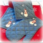 Painted Snowman Oven Mitt