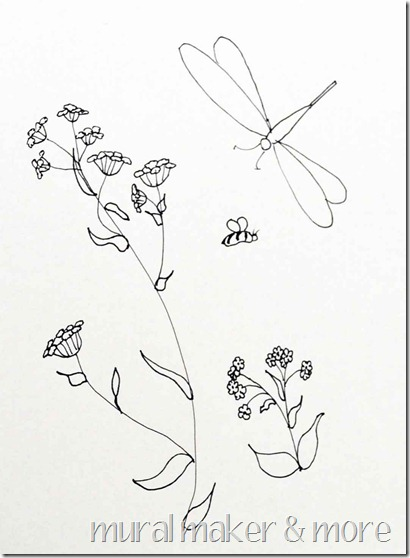 Wildflower Line Drawings Images