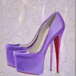 lavender high heel painting