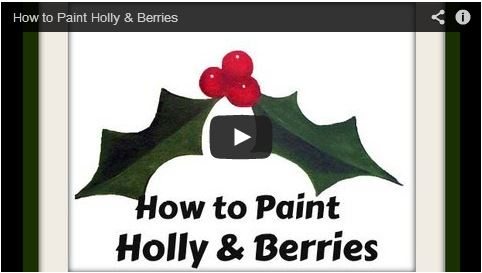 How to Paint Holly & Berries