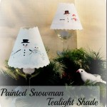 painted snowman tealight shade