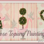 Pink Rose Topiary Paintings
