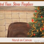 Paint Faux Fireplace – Mural on Canvas