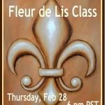 Fleur de Lis Painting Class