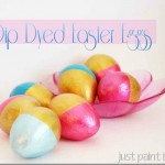 Dip Dyed Easter Eggs