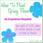 Paint Spring Flowers Series