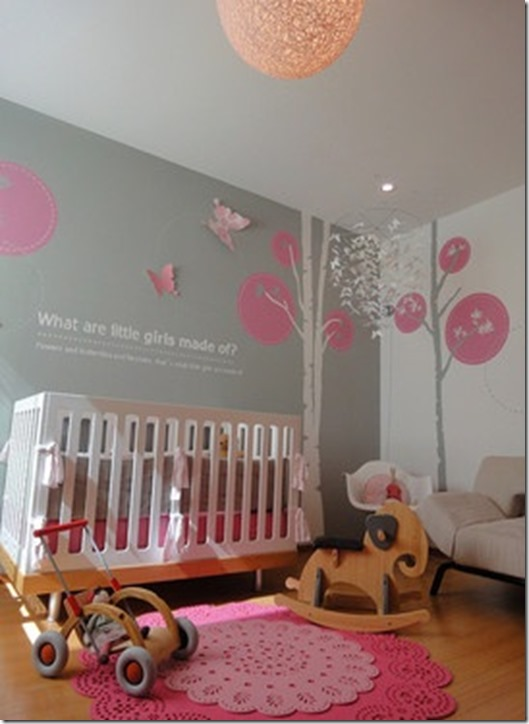 Babys Room Pink Gray Just Paint It Blog - Pink and grey nursery decor