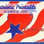 Patriotic Pattern to Print or Color