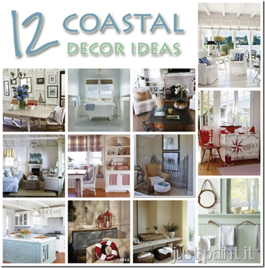coastal dcor ideas just paint it blog - Coastal Decorating