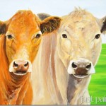 Painting of Two Cows