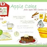 Apple Cake Recipe Illustration