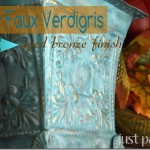 Easy Faux Verdigris Finish