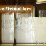 Faux Etched Jars