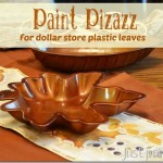 Paint Dollar Store Plastic Leaves