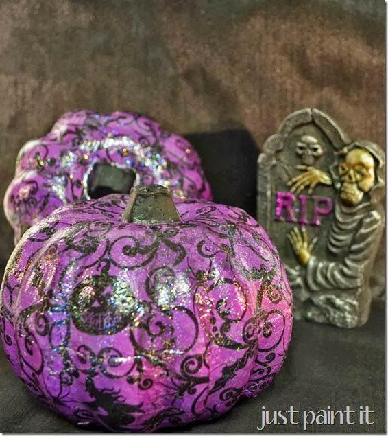 Decoupaged Pumpkins Just Paint It Blog