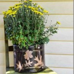 Salvaged Planter with Spraypaint
