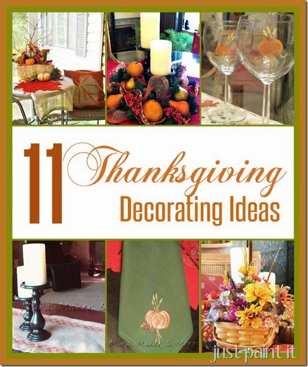 Eleven thanksgiving decorating ideas just paint it blog Thanksgiving decorating ideas