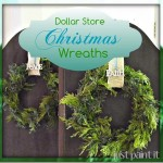 Dollar Store Christmas Wreaths