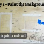 How To Paint a Rock Wall Background–Day 2