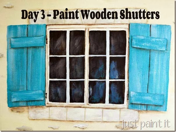 paint wooden shutters