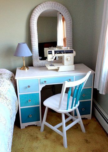 Turquoise Ombre Desk