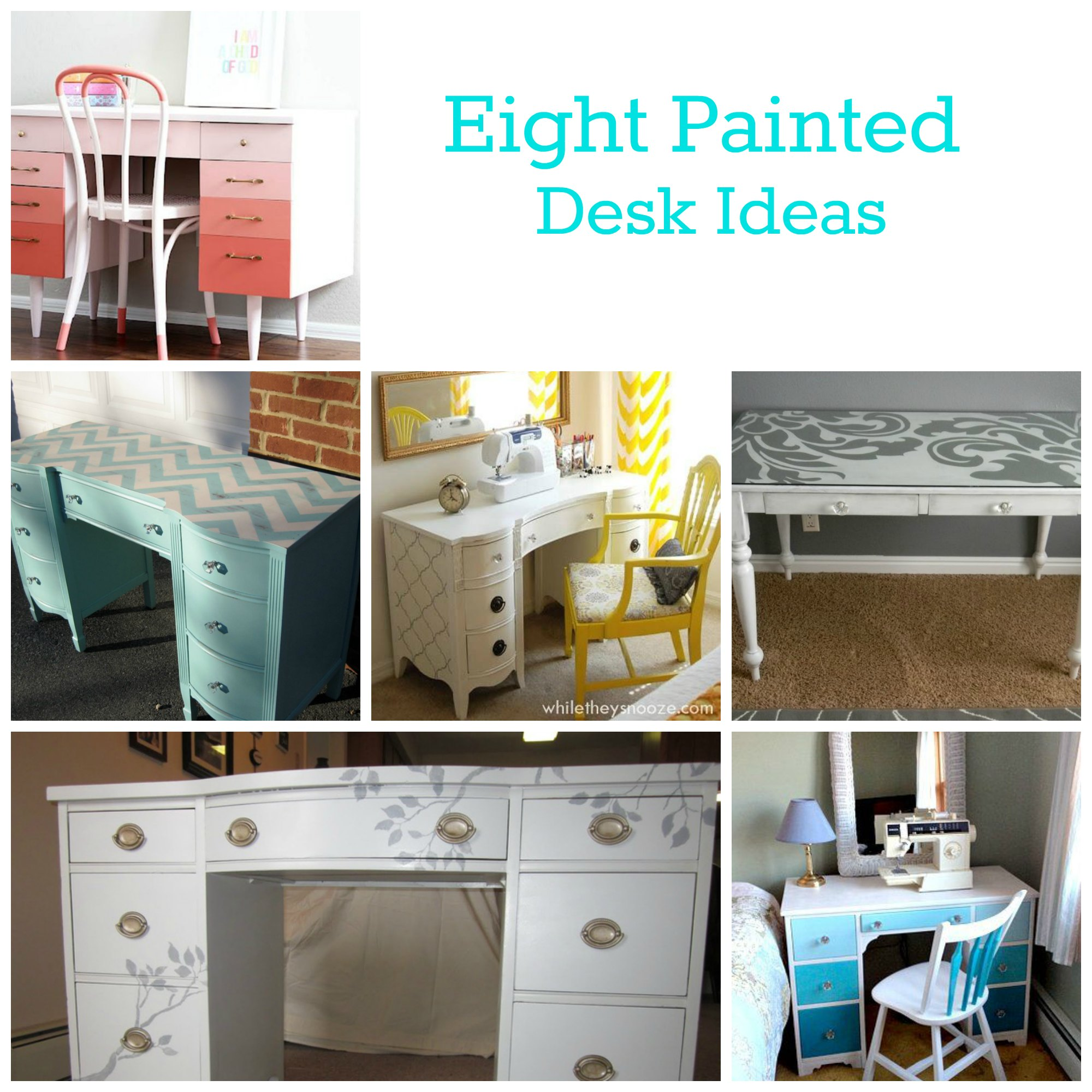 Painted Desk Enchanting Of Painted Desk Ideas Photos