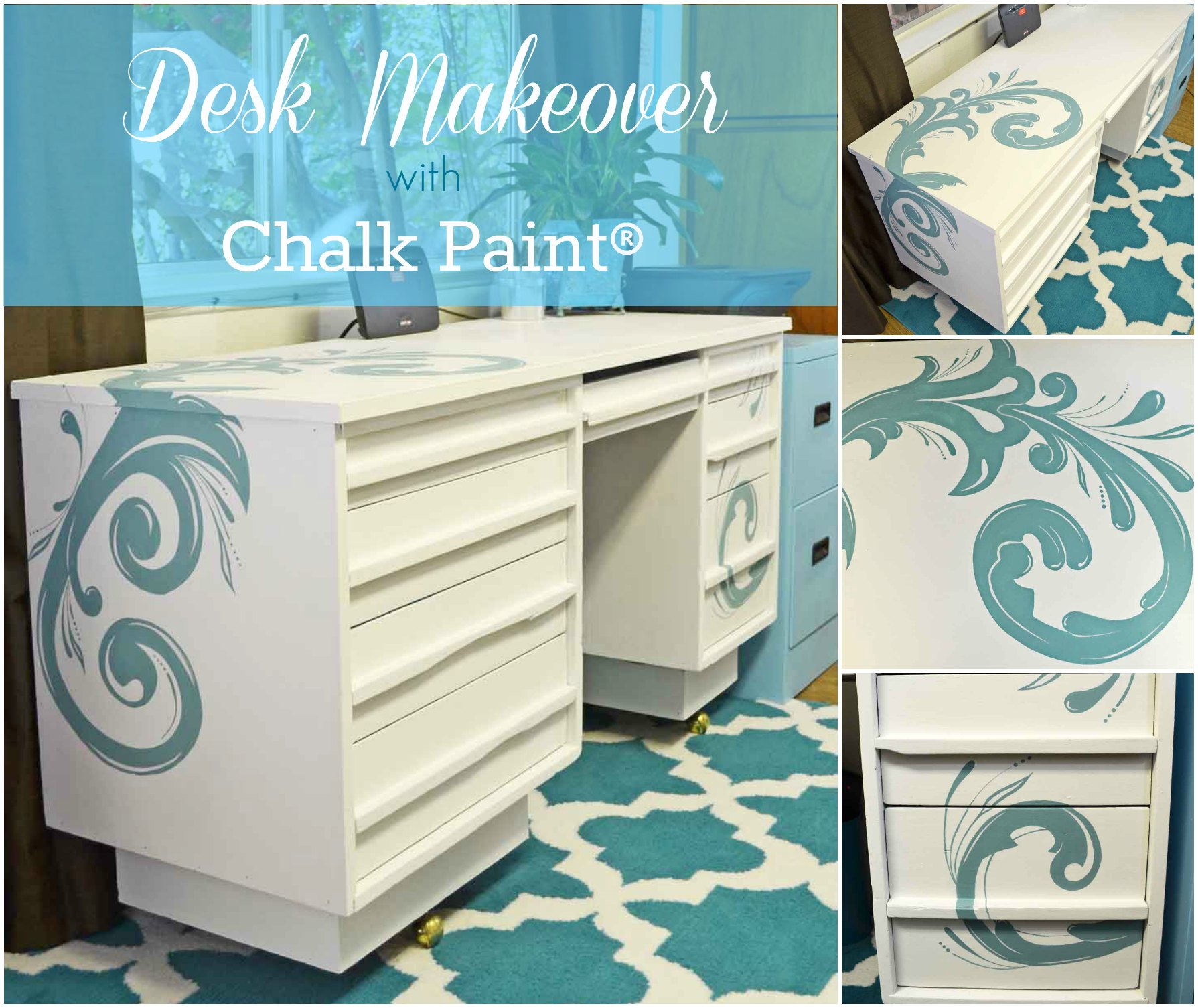 Pleasant Painted Desk With Chalk Paint Just Paint It Blog Download Free Architecture Designs Barepgrimeyleaguecom