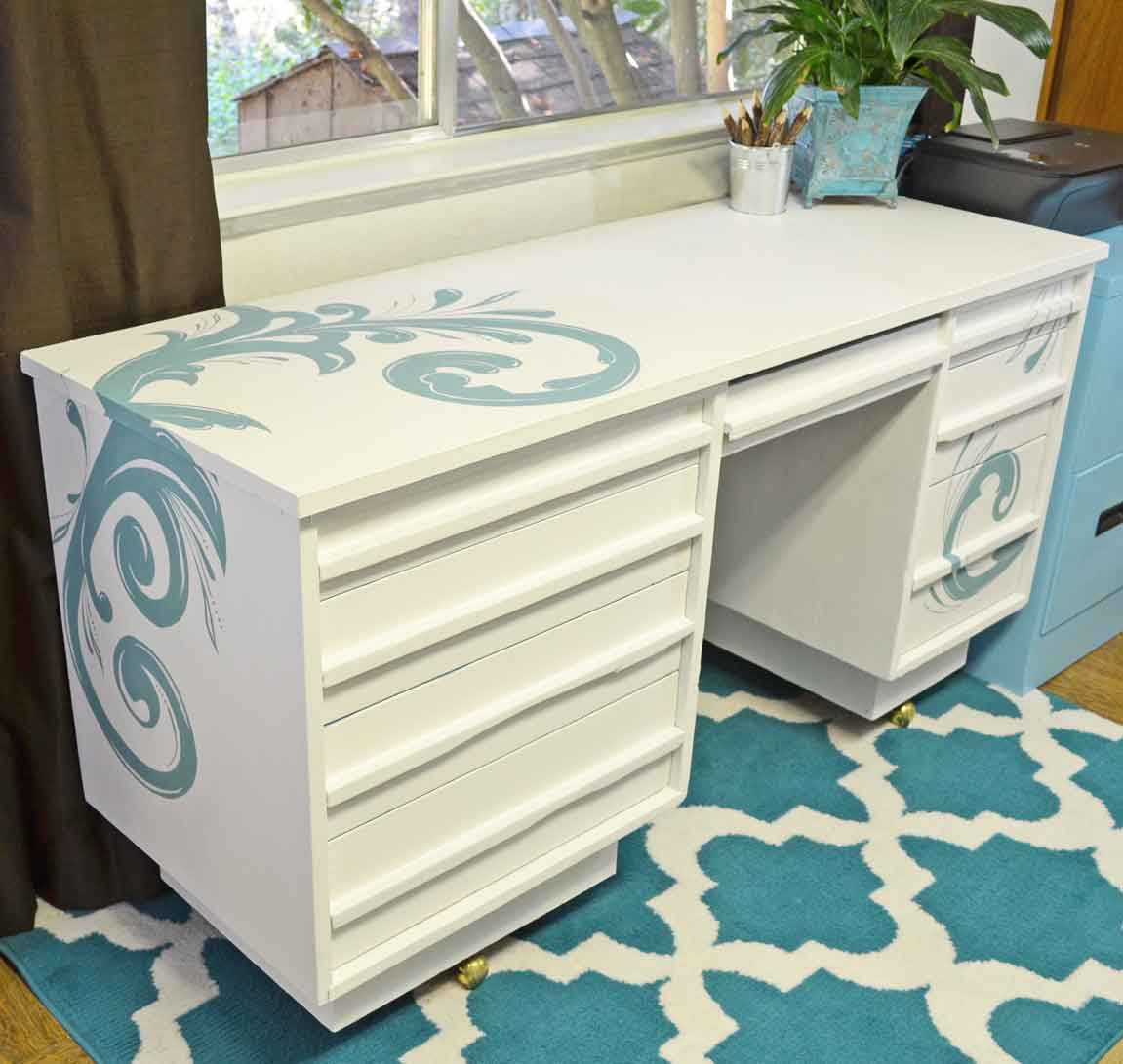 Painted Desks painted desk with chalk paint® - just paint it blog