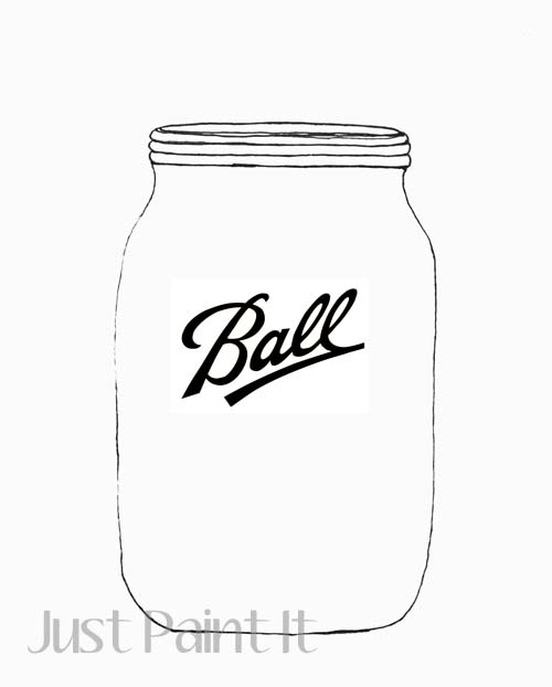 Mason Jar Pattern with Logo